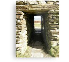 Druid Doorway - Grainan Of Aileach Fort -Donegal - Ireland Metal Print