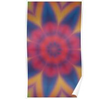 rays of color (blue/red) Poster