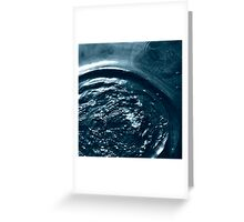 Liquid indentations 4. - photography Greeting Card