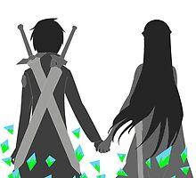 Kirito and Asuna by Bossumsdraws