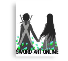 Kirito and Asuna Canvas Print