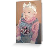 Shauna's precious girl Greeting Card