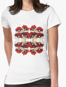 Pokeball Roses Womens Fitted T-Shirt