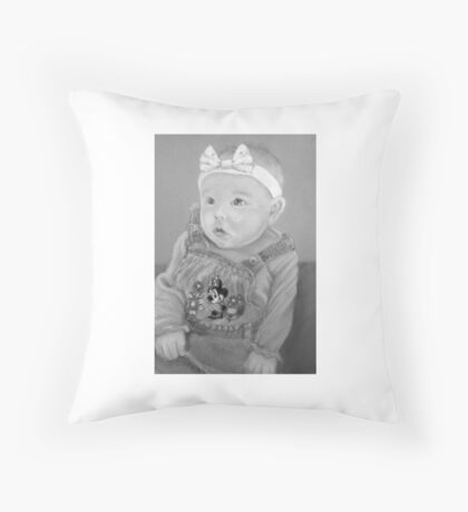 Shauna's precious girl Throw Pillow