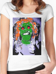 Thumbs Up! Mythical Zombie Ogre Horror Hybrid  Women's Fitted Scoop T-Shirt