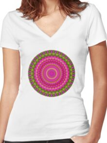 Kaleidoscope No. 5 Women's Fitted V-Neck T-Shirt