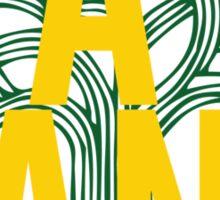 Oakland Gold & Green Sticker
