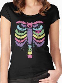Bear Bones Kawaii Drip Women's Fitted Scoop T-Shirt