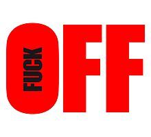 Elegant Fuck Off Text Logo by Style-O-Mat