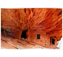 House on Fire - Ancestral Puebloan Dwelling Poster