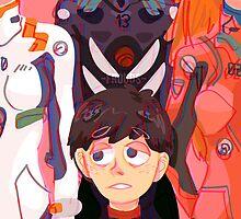Evangelion Kids by frouds