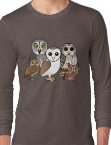 Five Cute Owls by Birdorable Long Sleeve T-Shirt