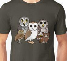 Five Cute Owls by Birdorable Unisex T-Shirt