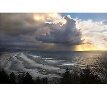 Sunset at Cape Lookout, Oregon. Photographic Print