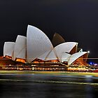 Sydney Opera House at night by andreisky