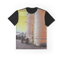 Modern silo & tractor pop art farm photography 1 Graphic T-Shirt
