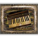 Vintage Piano Keyboard by suzannem73