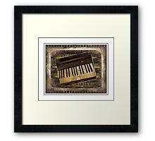 Vintage Piano Keyboard Framed Print