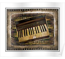 Vintage Piano Keyboard Poster