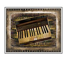 Vintage Piano Keyboard Photographic Print