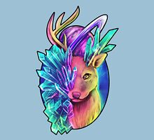 Crystal Deer Womens Fitted T-Shirt