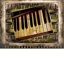 Vintage Piano by suzannem73