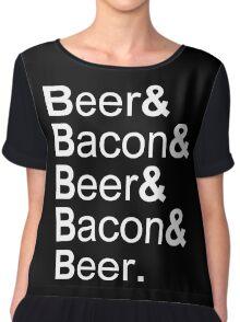 Beer&Bacon&Beer&Bacon... Chiffon Top