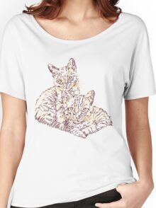 Two Mighty Kittens Women's Relaxed Fit T-Shirt