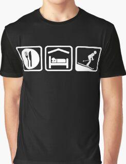 Funny Eat Sleep Skiing T Shirt Graphic T-Shirt
