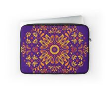 Fiery Floral Folk Pattern Laptop Sleeve