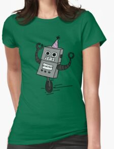 Party Robot Womens Fitted T-Shirt
