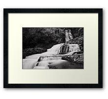 Monochrome McLean Falls Framed Print