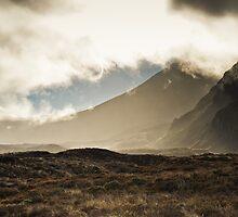 Tongariro in the Mist by Shaun Jeffers Photography