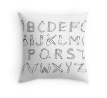 Chicken or Beef Alphabet Throw Pillow