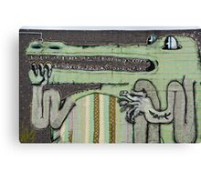 Graffiti Art Crocodile Canvas Print