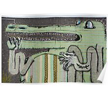 Graffiti Art Crocodile Poster