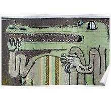 Graffiti Art Crocodile Poster