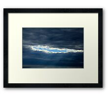 The Sky Has A Hole In It Framed Print