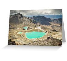 Emerald Lakes Greeting Card