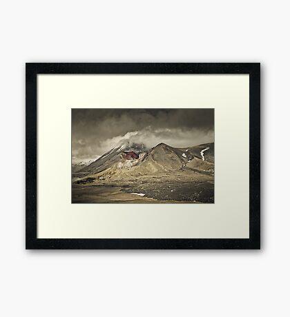 Red Crater & Mt Ngauruhoe Framed Print