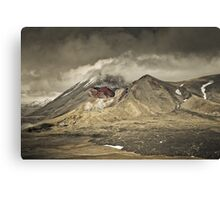 Red Crater & Mt Ngauruhoe Canvas Print