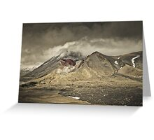 Red Crater & Mt Ngauruhoe Greeting Card