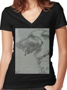 Honey GRPA151024b Women's Fitted V-Neck T-Shirt