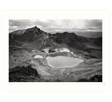Volcanic Monochrome Zone Art Print