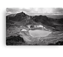 Volcanic Monochrome Zone Canvas Print