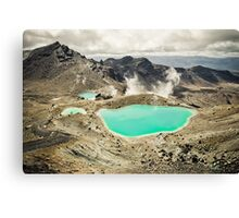 The Emerald Lakes  Canvas Print