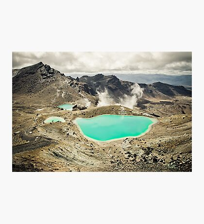 The Emerald Lakes  Photographic Print