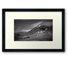 Volcano Clouds Framed Print
