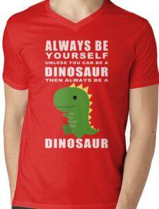 Always Dino Mens V-Neck T-Shirt