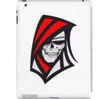Death hooded sweatshirt creepy sunglasses iPad Case/Skin